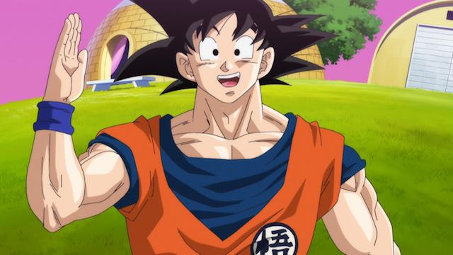 Goku saluda