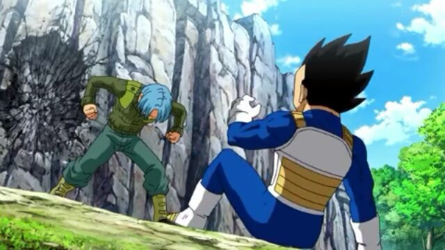 trunks del futuro vs vegeta