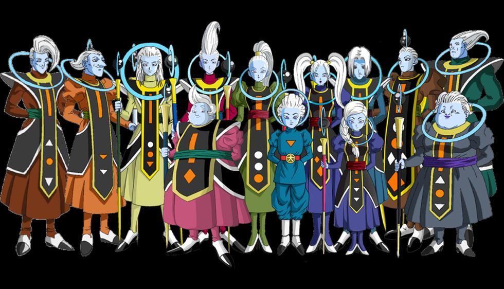 Los Ángeles Guías entre los personajes más poderosos del multiuniverso Dragon Ball.